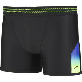 speedo Hydrosense Panel Aquashorts Miehet, black/green